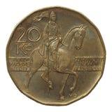 Tjeckiska korunor mynt Arkivbild