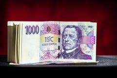 Tjeckiska pengar Royaltyfria Foton