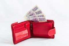 Tjeckiska pengar Arkivfoton