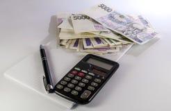 Tjeckiska pengar Fotografering för Bildbyråer