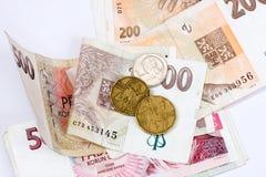 tjeckiska pengar Arkivbild
