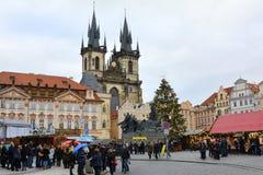 Tjeckiska Republic_Prague Arkivfoton