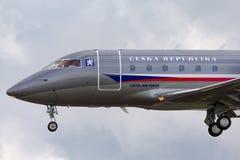 Tjeckiskt flygplan för storgubbe för flygvapenCanadair utmanare 601-3A Royaltyfri Bild