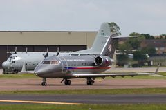 Tjeckiskt flygplan för storgubbe för flygvapenCanadair utmanare 601-3A Fotografering för Bildbyråer