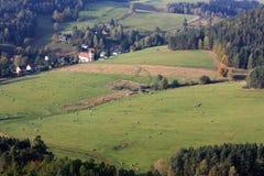 tjeckiskt lantligt landskap Arkivbilder