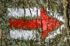 Tjeckiskt rött turist- tecken arkivbilder