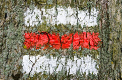 Tjeckiskt rött turist- tecken royaltyfri bild
