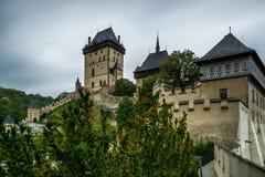 Tjeckiskt slott Karlstejn Royaltyfri Bild
