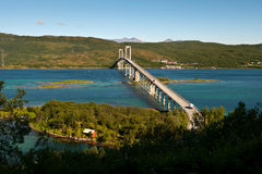 Tjelsund Bridge Royalty Free Stock Photography