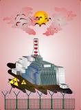 Tjernobyl kärnkraftverktragedi av den hela världen vektor illustrationer