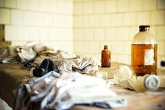 Tjernobyl Pripyat sjukhus arkivbilder
