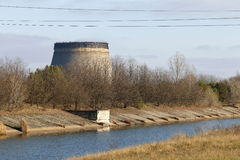 Tjernobyl som kyler tornet Royaltyfri Fotografi