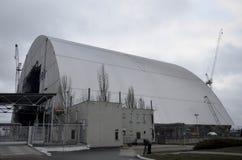 Tjernobyl UKRAINA - December 14, 2015: Tjernobyl kärnkraftverk Fotografering för Bildbyråer