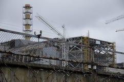 Tjernobyl UKRAINA - December 14, 2015: Tjernobyl kärnkraftverk Arkivbild