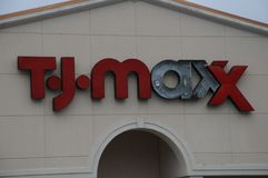 TJMAXX商店在布朗斯维克,乔治亚 免版税库存照片