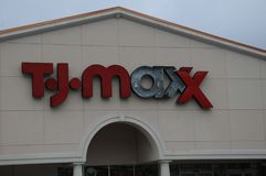 TJMAXX-opslag in Brunswick, Georgië Royalty-vrije Stock Afbeelding