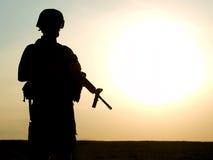 tjäna som soldat oss Royaltyfri Fotografi