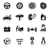 Tjänste- underhållssymbol för bil. Arkivbild