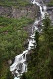Tjodnadalsfossen waterfall near Odda, Hordaland county, Norway.  royalty free stock photo
