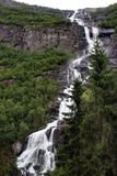 Tjodnadalsfossen waterfall near Odda, Hordaland county, Norway.  royalty free stock images