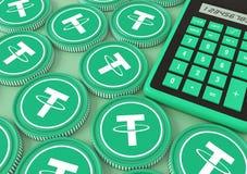 tjuder Bjuda på utbytet med Crypto valuta Arkivfoton