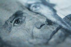 Tjugo dollar Bill Close Up With Andrew Jackson High Quality royaltyfri foto