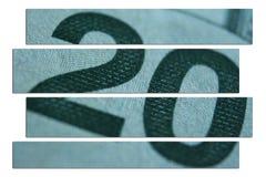 Tjugo dollar Bill Close Up High Quality arkivfoto