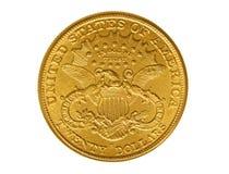 Tjugo dollar guld- mynt från 1882 Arkivfoton