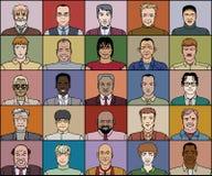 Tjugo fem vuxna män vektor illustrationer