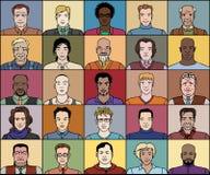 Tjugo fem vuxna män royaltyfri illustrationer