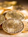 Tjugo schweizisk franc mynt Royaltyfria Bilder