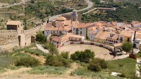Tjurcirkel i Morella, Spanien Royaltyfri Foto