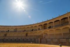 Tjurcirkel i Ronda, Spanien arkivfoton