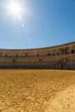 Tjurcirkel i Ronda, Spanien royaltyfri fotografi