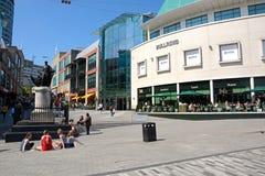 Tjurcirkel som shoppar område, Birmingham Arkivfoto