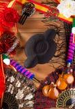Tjurfäktare och flamenco som är typiska från den Espana Spanien toreador Royaltyfri Bild