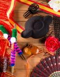 Tjurfäktare och flamenco som är typiska från den Espana Spanien toreador Arkivbilder
