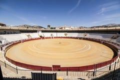 Tjurfäktningsarena av Cabra, landskap av Cordoba, Spanien, september 5, 201 royaltyfri bild