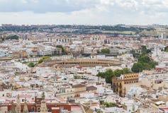 Tjurfäktningsarena av Seville Royaltyfria Bilder