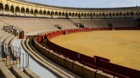Tjurfäktningsarena av Seville, Andalusia, Spanien Royaltyfria Bilder