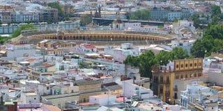 Tjurfäktningsarena för Sevilla ` s från Giraldaen Fotografering för Bildbyråer