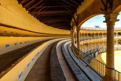 Tjurfäktningsarena i Ronda i Andalusia, Spanien Royaltyfria Bilder