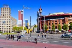 Tjurfäktningsarenaarenor barcelona catalonia spain Arkivbilder