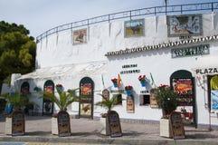 Tjurfäktningsarenan av Mijas på Costa Del Sol Andalucia, Spanien Royaltyfri Fotografi