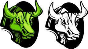 tjurlogomaskot stock illustrationer