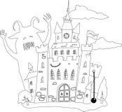 tjusat slott vektor illustrationer