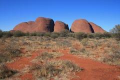 tjuta för territorium för olgas för Australien kata nordlig arkivbild