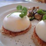 Tjuvjagade ägg för frukost Arkivbild