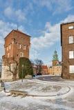 Tjuvtorn av den Wawel slotten i Krakow, Polen Arkivbilder