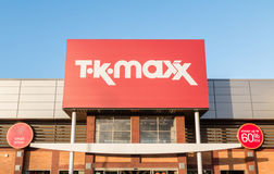 TK Maxx the discount fashion retailer shop sign Stock Photo